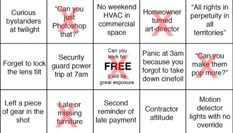 Humor: Architectural Photography Bingo