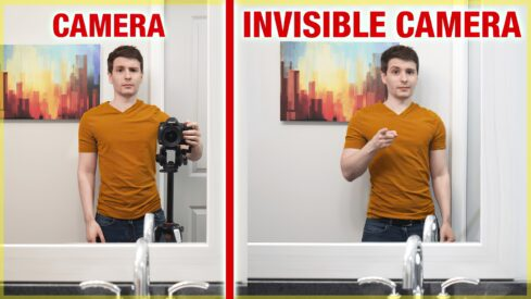 "How To Remove Yourself From a Mirror In a Photograph With an ""Invisible"" Camera"