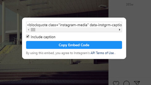 Permission Required: An Update For Embedding Instagram Content