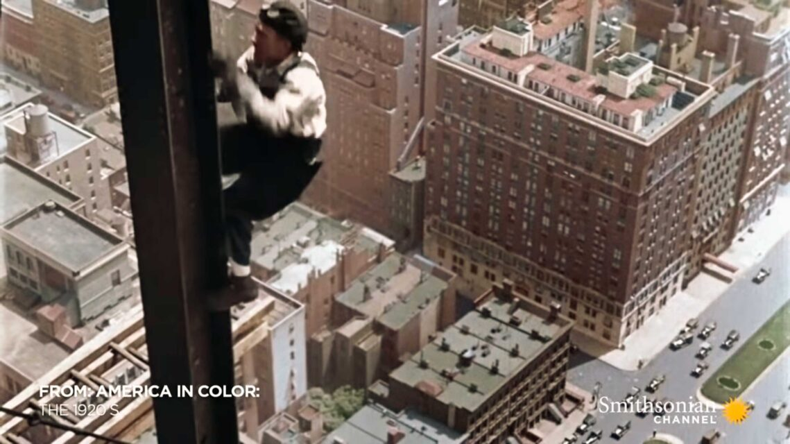 These Videographers Risked Their Lives to Film 1920s New York Skyscrapers