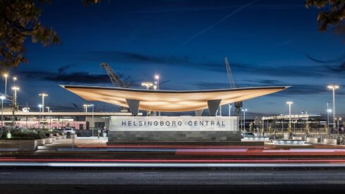 Felix Gerlach Photographs A Sculptural Swedish Rail Station Entrance for Tengbom