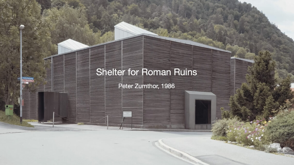 ArcDog Blends Motion and Stills to Document Zumthor's 'Shelter For Ruman Ruins'