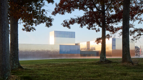 Dave Burk Masterfully Photographs the Ever-Changing Reflective Facade of SOM's National Museum of the US Army