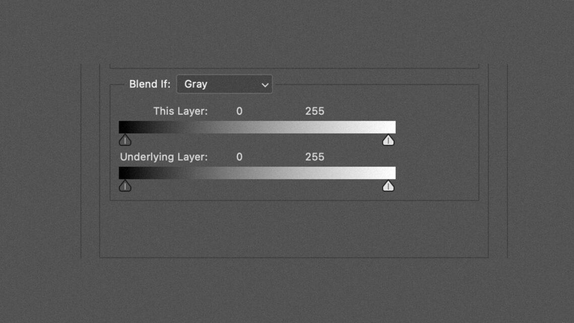 Luminosity Blending With Blend-If Sliders