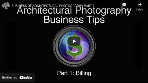 Billing and the Business of Architectural Photography